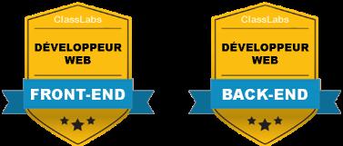 Certification Développeur Web Back End